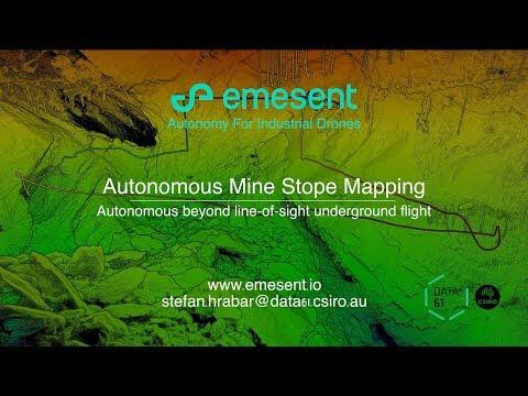 Autonomous underground drone flight beyond line-of-sight using Hovermap payload