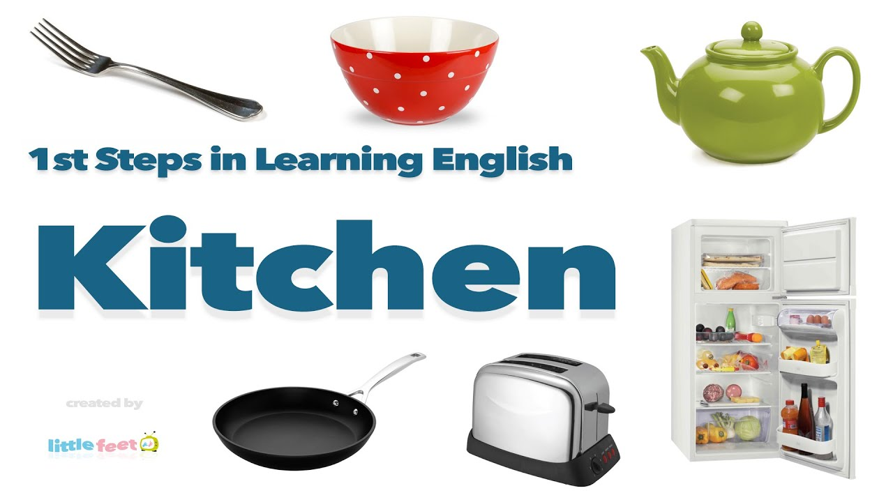 Pronounce 16 Kitchen Objects in British English | Vocabulary with ...