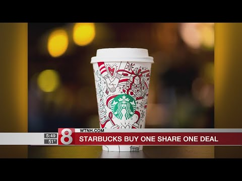 Starbucks offering buy one, share one deal