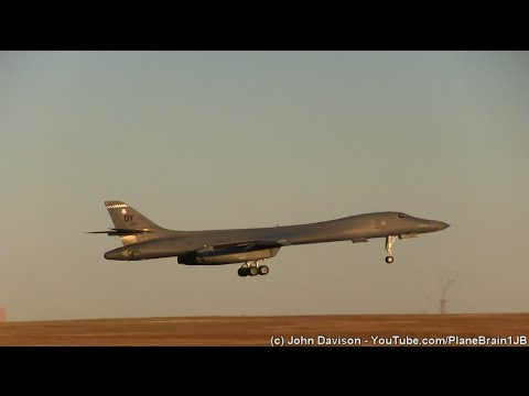 Spotting at Dyess AFB - 1/7/2016 (B-1's at Night!!)