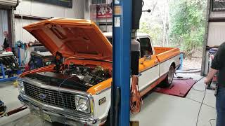 72 C10 SBE 5.3l with Texas Speed Heads, Cam and stock pulley LSA blower on 8 pounds