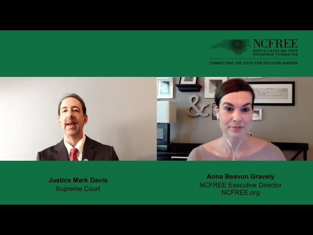 NCFREE Judicial Interview - Justice Mark Davis - Supreme Court Seat 4
