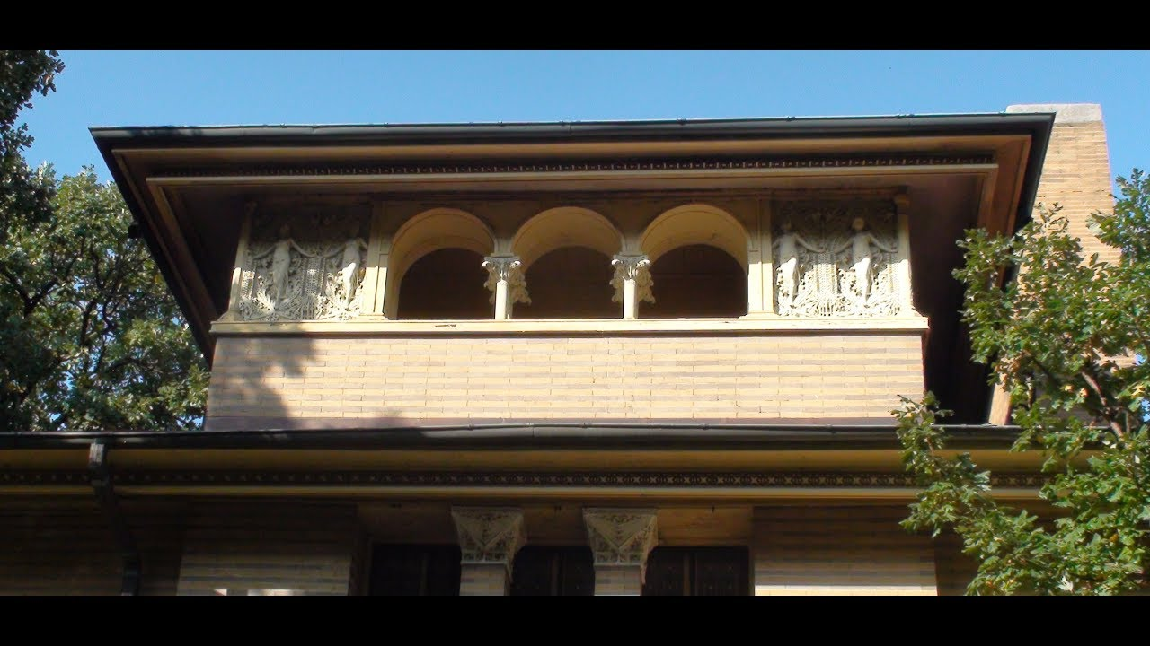 Frank Lloyd Wright Heller House Hyde Park Chicago - YouTube