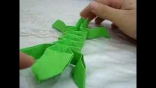 Origami Lizard Designed by Evan Zodl (Not a Tutorial) Thumbnail