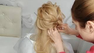 ВИДЕО ПРИЧЕСКИ НА ДЛИННЫЕ ВОЛОСЫ Красивая причёска на свадьбу 2020 быстро без плойки