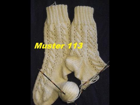 Muster 113 für Socken -Handschuhe -Mütze* Stricken mit Nadelspiel und mit Rundnadeln