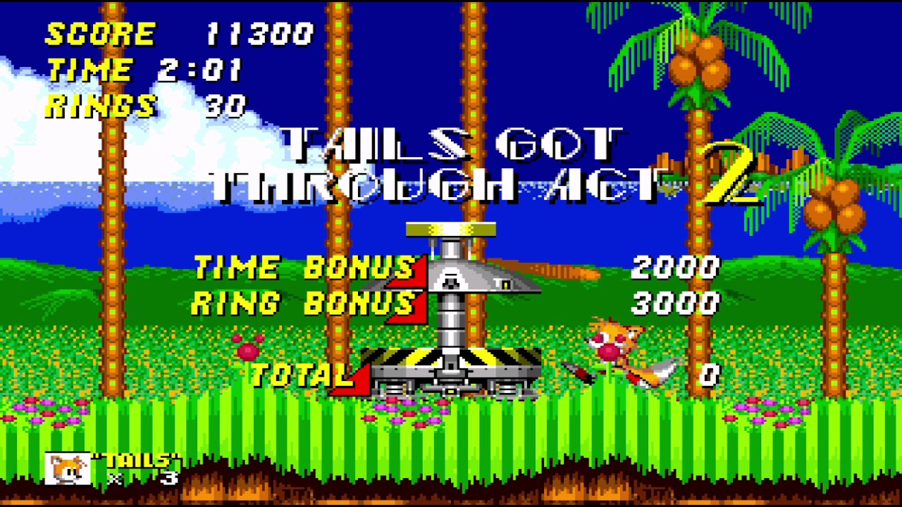 Fly With Tails In Sonic 2 Sega Genesis Rom Hack Gameplay Full Hd Youtube