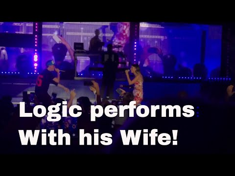 Logic's Full performance of 1-800-273-8255 with his wife on Everybody's tour