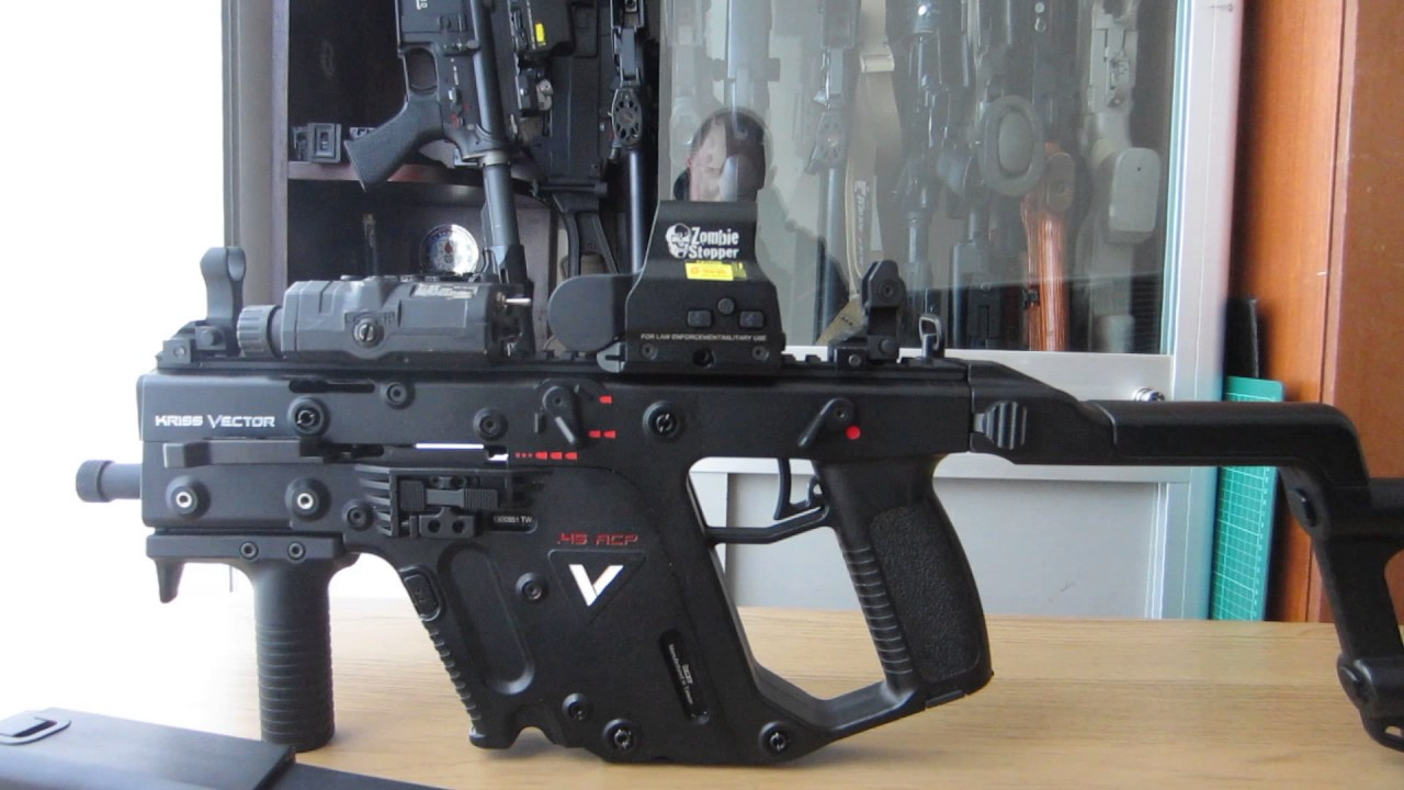 kwa kriss vector super v gbb custom with cabinet reveal