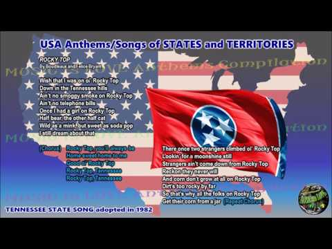 Tennessee State Song ROCKY TOP with music, vocal and lyrics