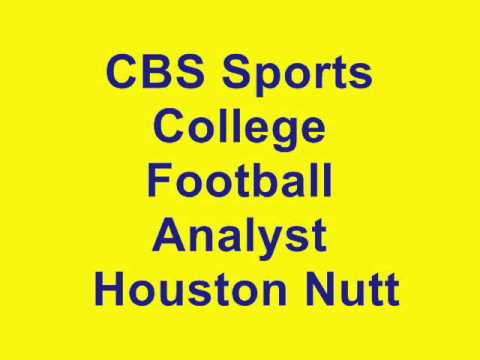 CBS Sports College Football Analyst Houston Nutt