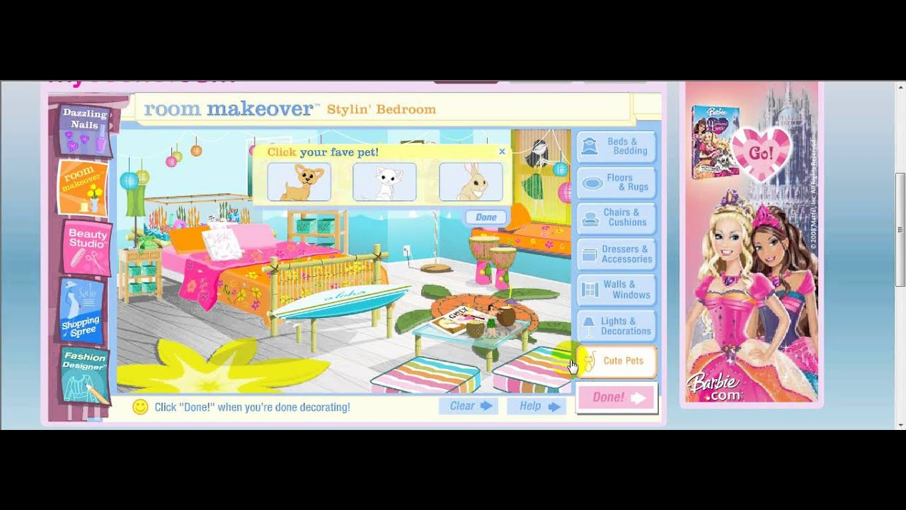 Makeover My Room Games