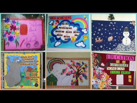 School notice board decoration ideas || amazing display board ideas for school
