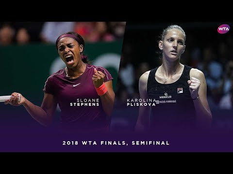 Sloane Stephens vs. Karolina Pliskova | 2018 WTA Finals Singapore Semifinal | WTA Highlights