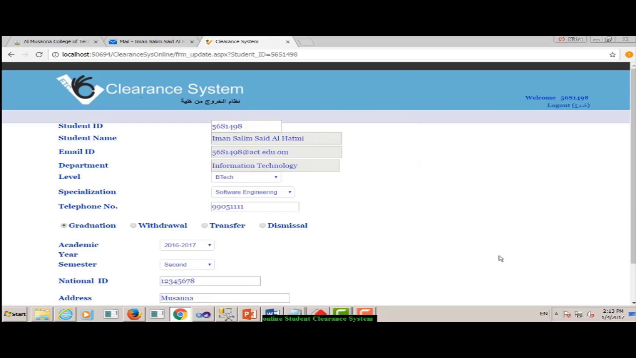 ACT Online Student Clearance System - YouTube