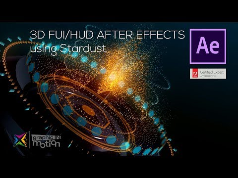 Stardust 3D FUI - After Effects Tutorial