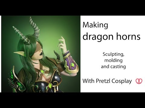 How to make a two part silicone mold and hollowcast resin horns for cosplay