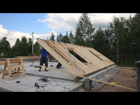 Как строится каркасный дом видео