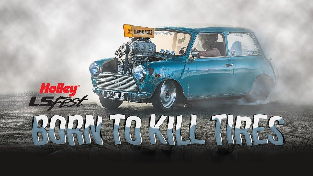 Born to Kill Tires - 77' Blown LS Austin Mini - LS Fest West