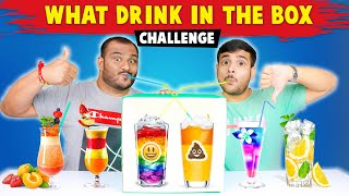 WHAT DRINK IN THE BOX CHALLENGE | Drinks Challenge | Food Challenge | Viwa Food World