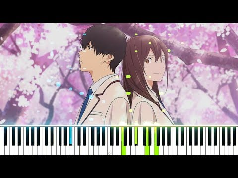 "【FULL】[Kimi No Suizou Wo Tabetai OP] ""Fanfare"" - Sumika (Synthesia Piano Tutorial)"