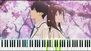 """Gambar cover 【FULL】[Kimi no Suizou wo Tabetai OP] """"Fanfare"""" - sumika (Synthesia Piano Tutorial)"""