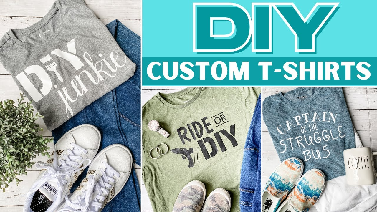 🌟 HOW FUN!  DIY Your Own CUSTOM T-SHIRTS!  Make Personalized Shirts for ANYONE!