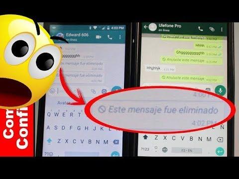 Cómo borrar un mensaje de WhatsApp que has enviado 2017 - Comoconfigurar