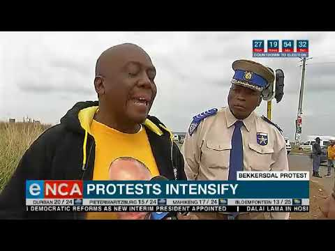 Download Residents of Bekkersdal on the West Rand are protesting against a lack of service delivery