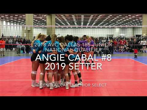 Angelina Cabal c/o 2019 Setter  2018 AVC Dallas 18s Junior National