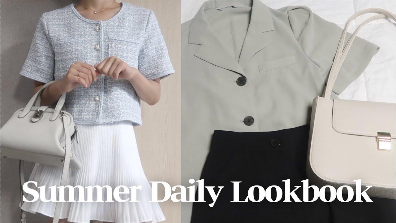 163cm 46kg 대학생의 일주일 여름 데일리 룩북🌵✨ 최애 상의&슬랙스&가방 추천💕초보 패션 유튜버,,   summer daily lookbook