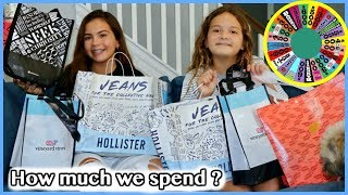WHEEL PICKS HOW MUCH MONEY WE SPEND AT THE MALL / TRY ON HAUL | SISTER FOREVER