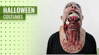 Cssd Men Halloween Costumes [2018]: CSSD Bloody Scary Zombie Face Melting Cosplay Costume Halloween