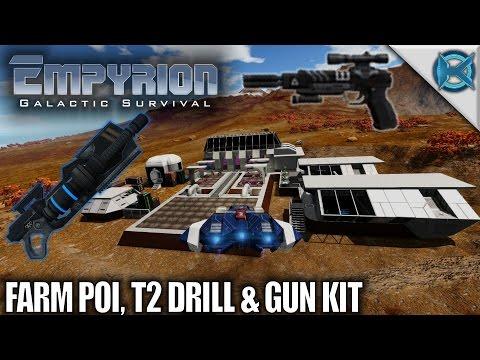 Empyrion Galactic Survival   Farm POI T2 Drill & Gun Kit   Let's Play Gameplay   Alpha 6 S11E04