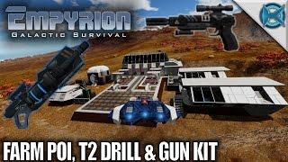 Empyrion Galactic Survival | Farm POI T2 Drill & Gun Kit | Let's Play Gameplay | Alpha 6 S11E04