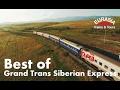 Best of Trans Siberian train Moscow - Ulaanbaatar - Beijing 8000km Aerial/ Транссиб с высоты