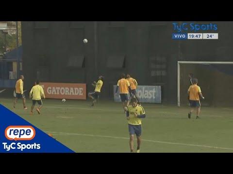 El espectacular golazo de chilena que Osvaldo marcó en la práctica