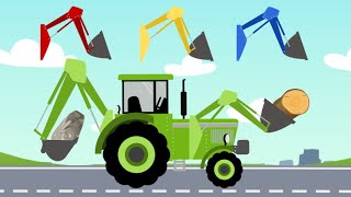 We Study Colors and Tractors, Farm Transport for Kids | Quiz with Machines