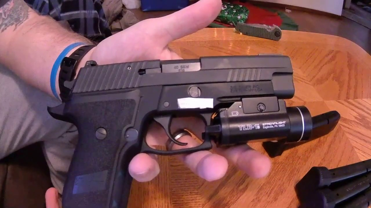 sig sauer p226 40 cal tacops w tlr 1s close look youtube