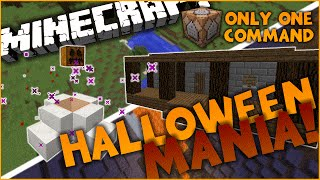 Minecraft l Halloween Mania in One Command l Transform Your World!