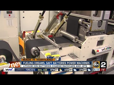 SAFT batteries, made in Cockeysville, fuel racecars and jets