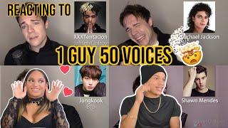 Waleska & Efra react to ONE GUY, 54 VOICES |Michael Jackson, JUNGKOOK & JIMIN, Eminem +more|REACTION