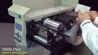 วิธีใส่ผ้าหมึกเครื่องพิมพ์บาร์โค้ด Zebra 105SL Printer Barcode