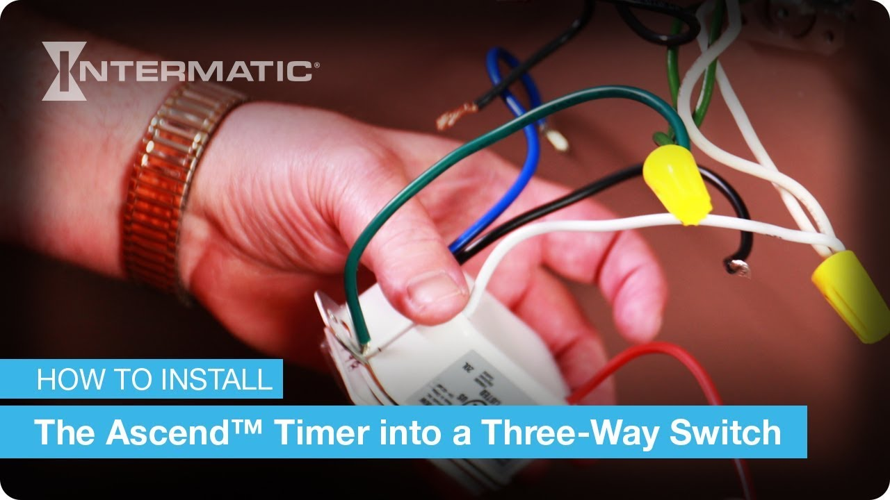 Three Way Switch Wiring Instructions For The Ascend In Wall Timer 3 Wire Type By Intermatic