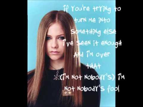 Nobody's Fool Avril Lavigne lyrics