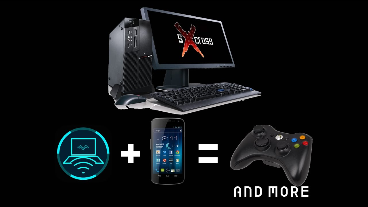 Use your phone as a Virtual Gamepad(and more) - Monect PC Remote