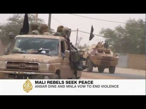Ansar Dine and MNLA vow to end violence in northern Mali