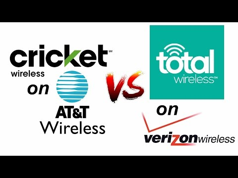 Cricket Wireless -ATT vs Total Wireless Verizon - The Good, the Bad