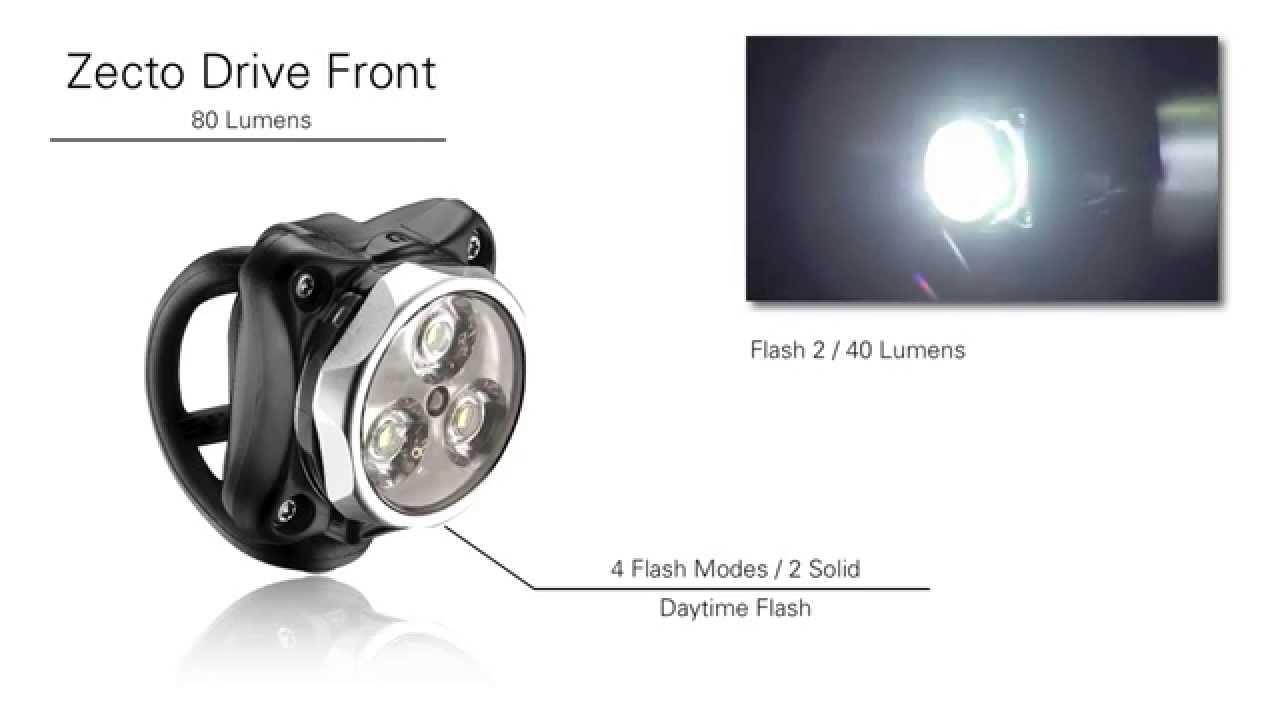 Lezyne Zecto Drive 250 Lumens Front Bicycle Headlight