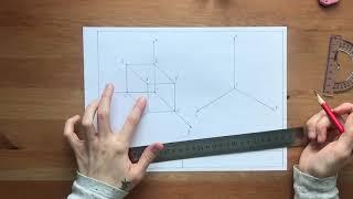 Алёна Юрьевна говоритъ - Прямоугольная изометрическая проекция куба
